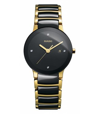 RADO Centrix Jubile Black Dial Two Tone Ceramic Watch