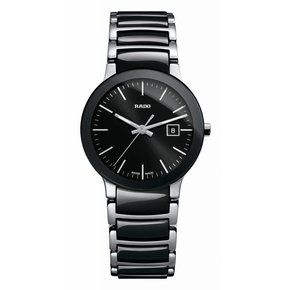 RADO Centrix Black Dial Two-tone Ceramic Ladies Watch