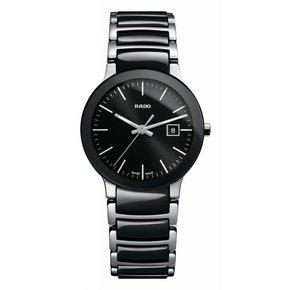 RADO Centrix Black Dial Two-tone Ceramic Ladies Watch