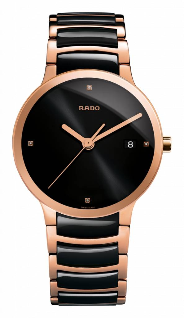 RADO Centrix Jubile Black Dial Black Ceramic Men's Watch