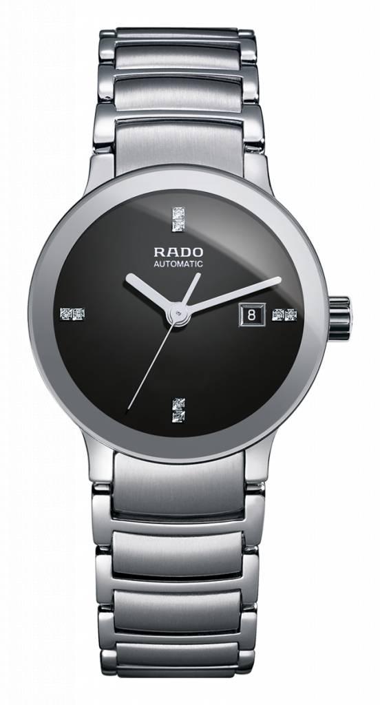 RADO Centrix Automatic Zwart Staal Dameshorloge