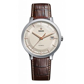RADO Centrix Automatic Silver Dial Brown Leather Men's Watch