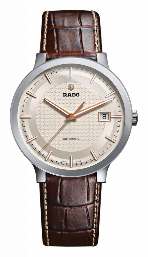 RADO Centrix Automatic Silver Dial Brown Leather Men's Watch