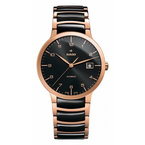 RADO Centrix Automatic Rose Gold and Black Ceramic Men's Watch