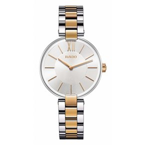 RADO Coupole Silver Dial Two-tone Steel Ladies Watch