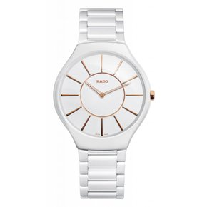 RADO True White Dial Ceramic Ladies Watch