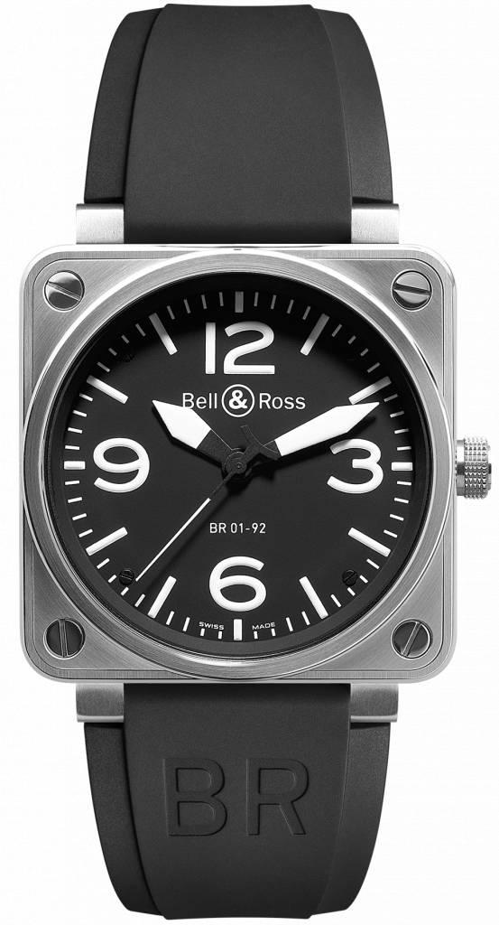 Bell & Ross Aviation Black Dial Steel Case Automatic 46 MM Men's Watch