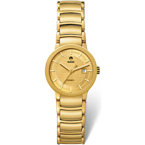 RADO Centrix Automatic Gold Dial Yellow-Gold Plated Stainless Steel Ladies Watch