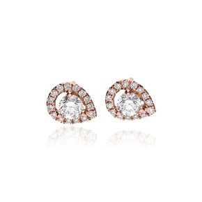 Zazare Earrings 18Krt. Rose Gold Brilliant