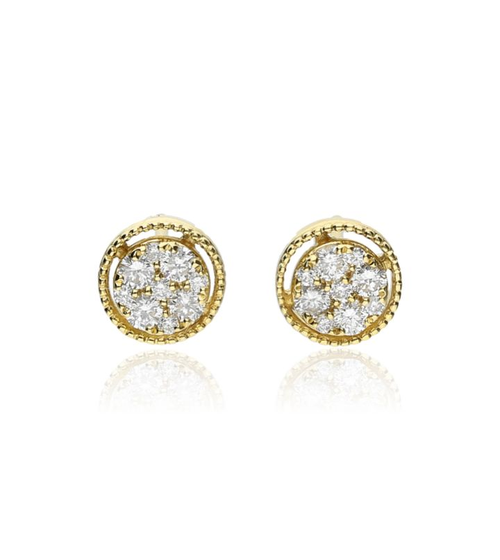 Zazare Earrings 18Krt. Yellow Gold Brilliant
