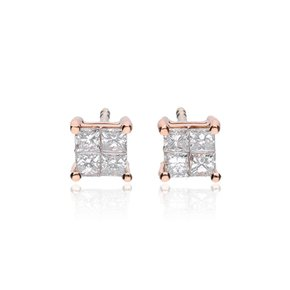 Zazare Earrings 18Krt. Rose Gold Princess