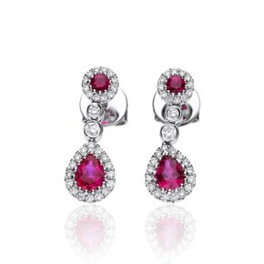 Zazare Earrings 18Krt. White Gold Brilliant