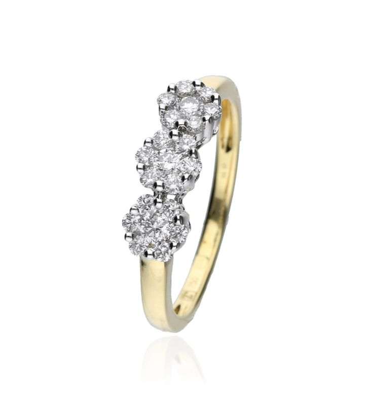Zazare Ring 18Krt. Bicolour Gold Brilliant