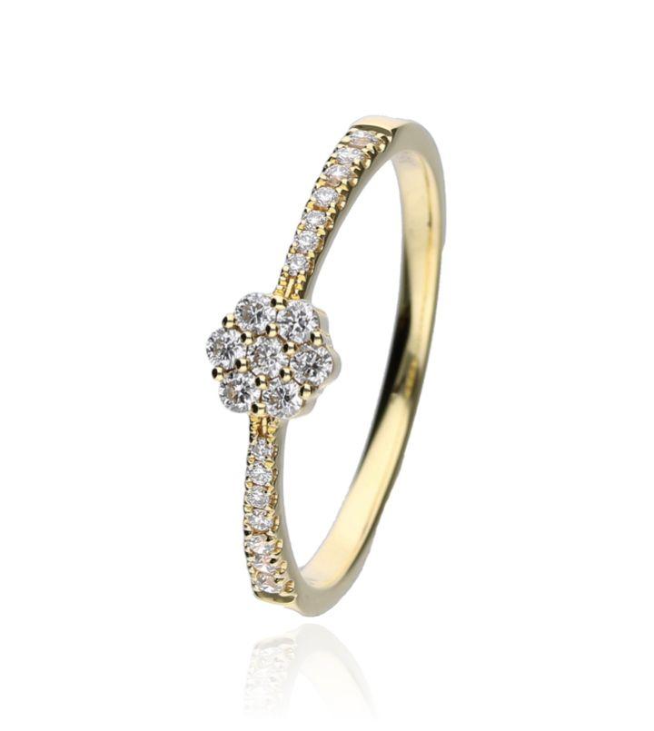 Zazare Ring 18 Krt. Yellow Gold Brilliant