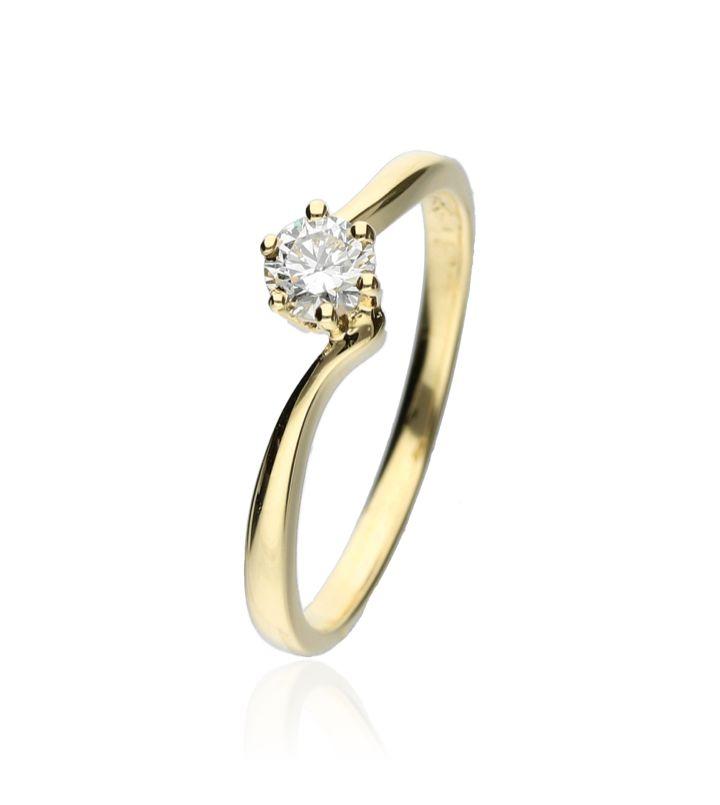 Zazare Ring 18Krt. Yellow Gold Brilliant