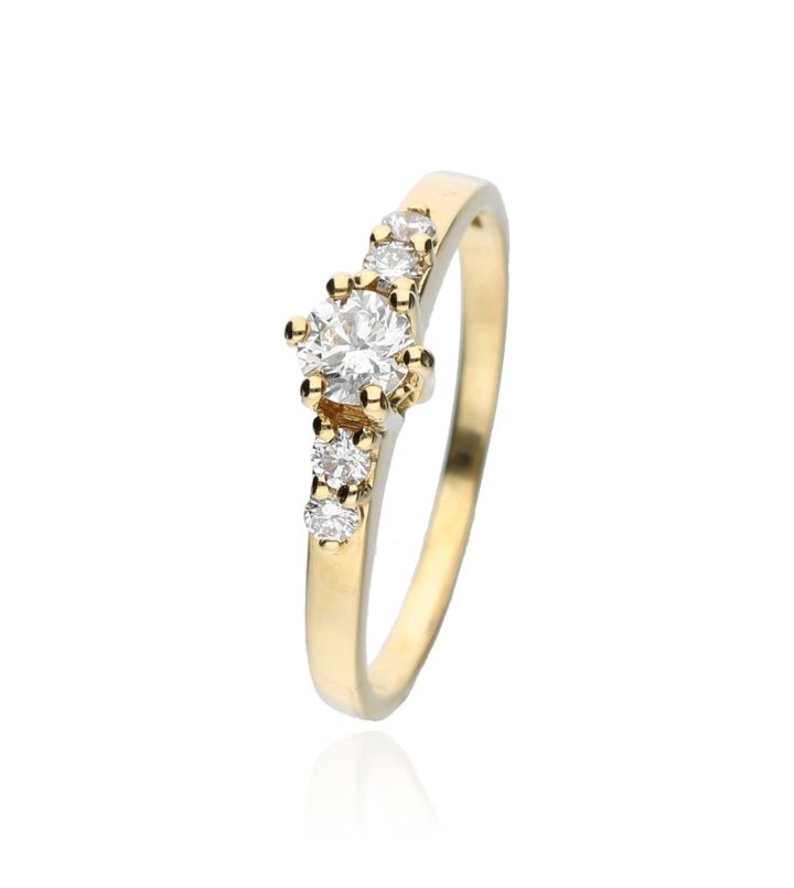 Zazare Ring 18Krt. Yellow Gold Brilliant