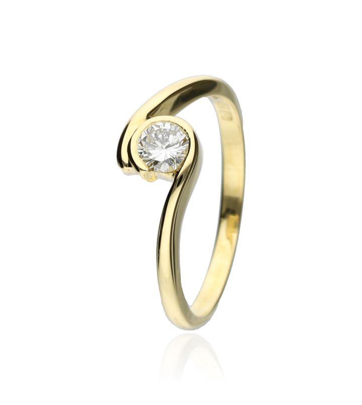 Zazare Ring 18Krt. Geelgoud Brilliant