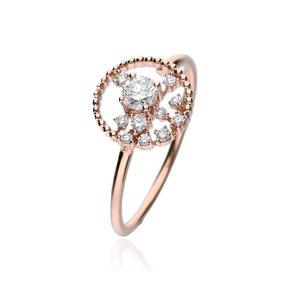 Zazare Ring 18Krt. Rose Gold Brilliant