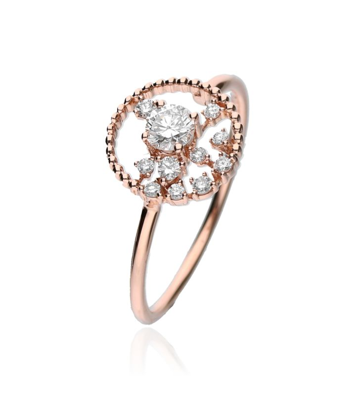 Zazare Ring 18Krt. Rose Gold Brilliant