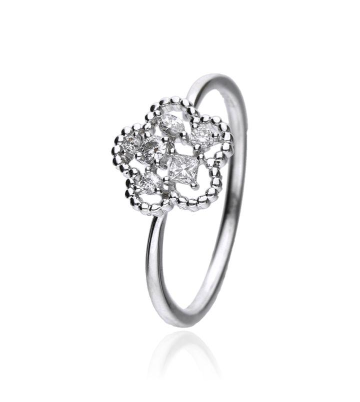 Zazare Ring 18Krt. White Gold Multiple Shape