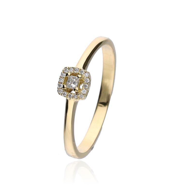 Zazare Ring 18Krt. Yellow Gold Multiple Shape