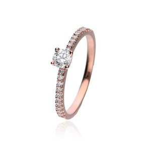 Zazare Ring 18Krt. Rosegoud Brilliant