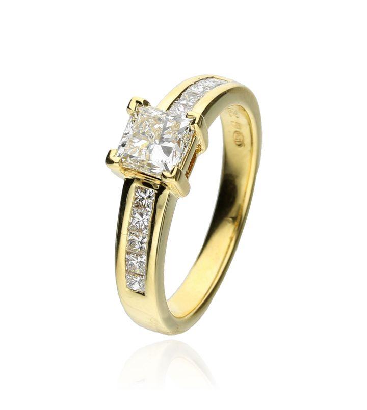 Zazare Ring 18Krt. Yellow Gold Princess