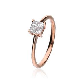 Zazare Ring 18Krt. Rose Gold Princess