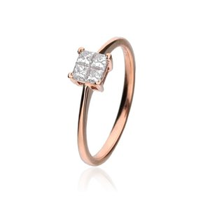 Zazare Ring 18Krt. Rosegoud Princess