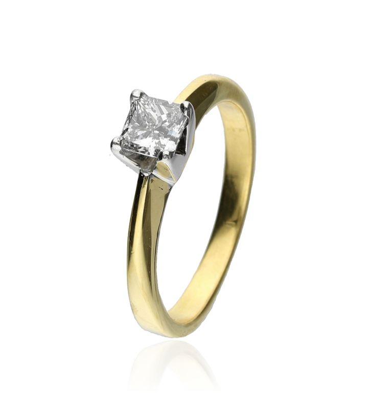 Zazare Ring 18Krt. Geelgoud Princess