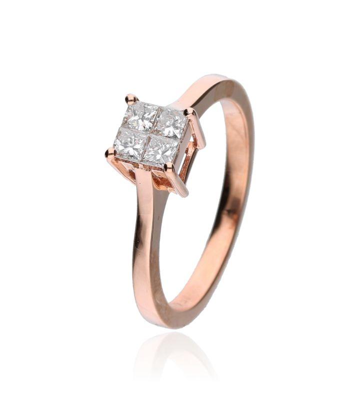 Zazare Ring 18Krt. Rosegoud Princess