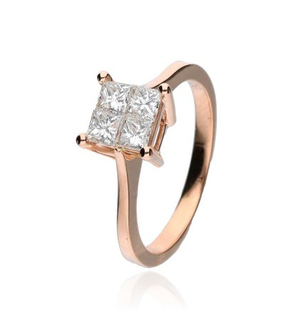 Zazare Ring 18Krt. Rose Gold Princess