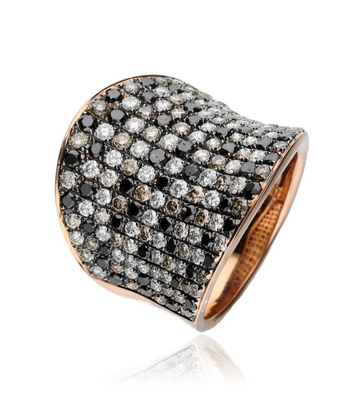Zazare Ring 18Krt. Rosegoud Brilliant