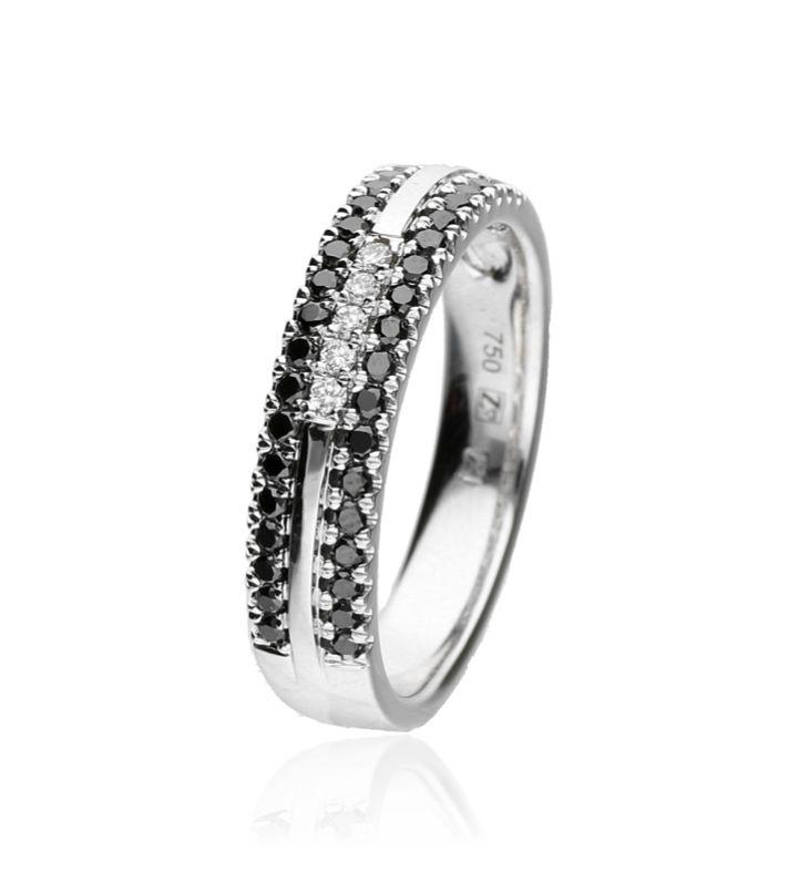 Zazare Ring 18Krt. Witgoud Brilliant