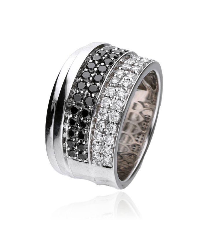 Zazare Ring 18Krt. White Gold Brilliant