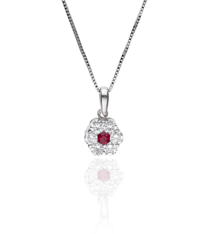 Zazare Pendant 18Krt. White Gold Brilliant