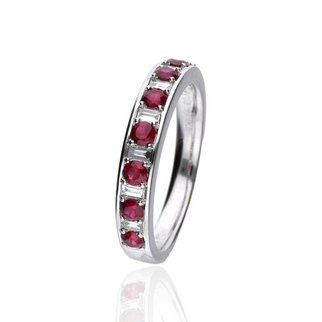 Zazare Ring 18 Krt. White Gold Baguette