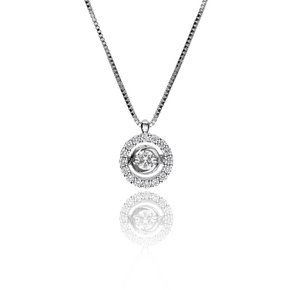 Zazare White gold swinging diamond pendant 18KT