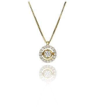 Zazare Yellow Gold swinging Diamant hanger 18K