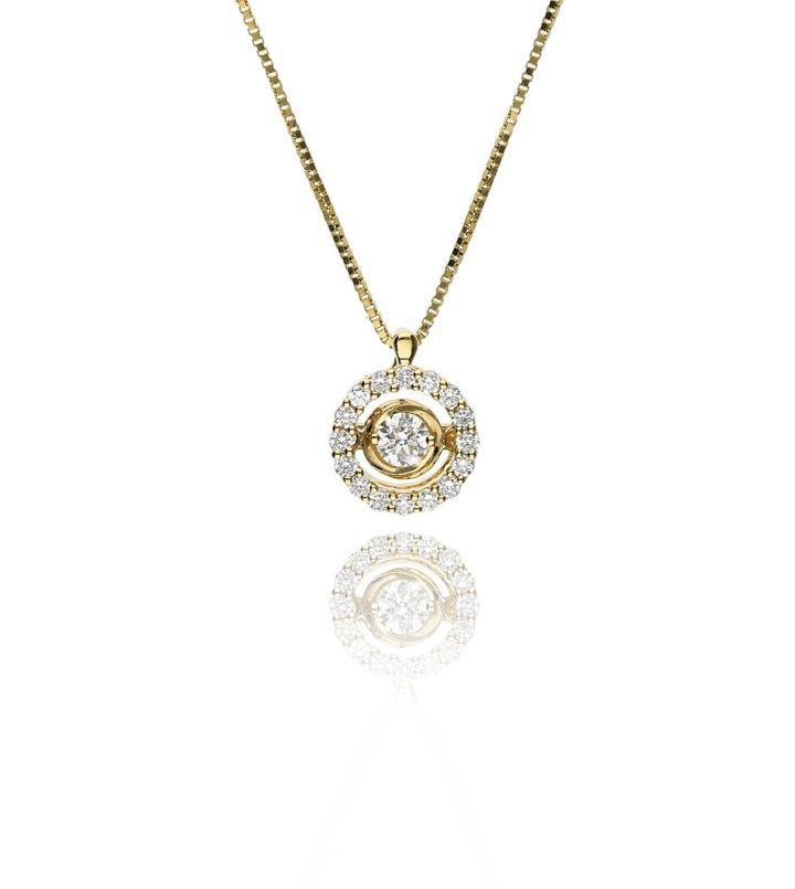 Zazare yellow gold swinging diamond pendant 18k zazare zazare yellow gold swinging diamond pendant 18k aloadofball Images