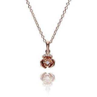 Zazare Red gold small flower pendant 18KT