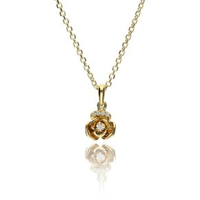 Zazare Yellow gold small flower pendant 18KT