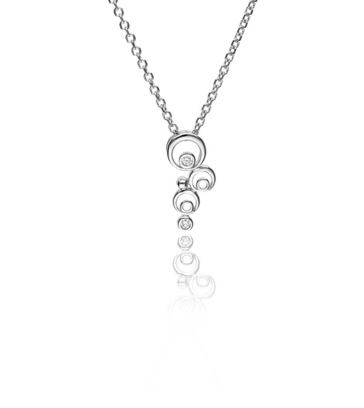 Zazare White gold circle pendant 18KT