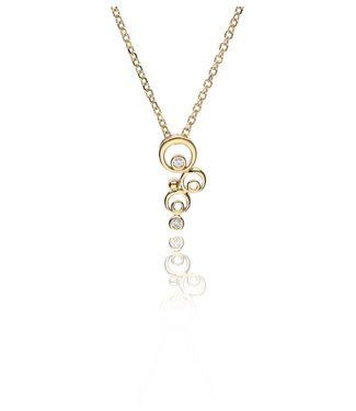 Zazare Yellow Gold circle hanger 18KT