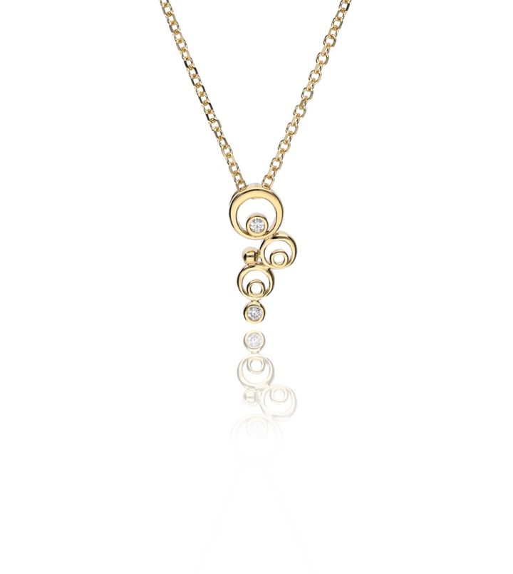 Zazare Yellow gold circle pendant 18KT