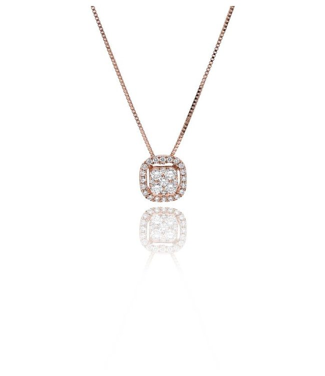 Zazare Rose gold square hanger 18KT