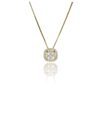 Zazare Yellow Gold square hanger 18KT