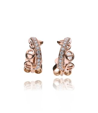 Zazare Rose gold fantasy earstuds 18 KT