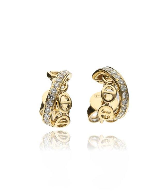 Zazare Geelgoud fantasy earstuds 18 KT