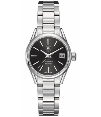 Tag Heuer Automatic Black Dial Stainless Steel Ladies Watch